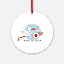 Stork Baby Japan Ornament (Round)
