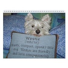 Westie Wall Calendar