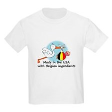 Stork Baby Belgium USA T-Shirt