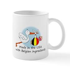 Stork Baby Belgium USA Mug