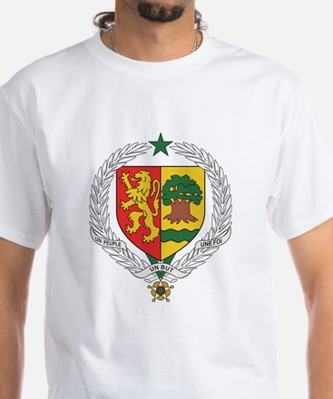 Senegal Coat Of Arms White T-Shirt