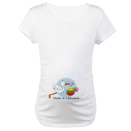 Stork Baby Lithuania Maternity T-Shirt