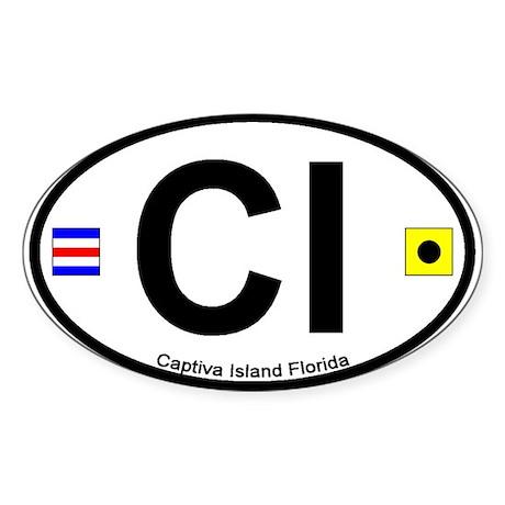 Captiva Island FL - Oval Design Oval Sticker