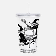 Witch Cartoon 4864 Acrylic Double-wall Tumbler