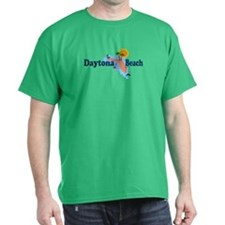 Daytona Beach FL - Map Design T-Shirt