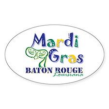 Mardi Gras Baton Rouge Oval Decal