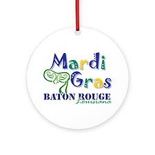 Mardi Gras Baton Rouge Ornament (Round)