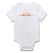 1968-69 Roadrunner Orange Car Infant Bodysuit