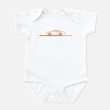 1968-69 Roadrunner Orange Car Infant Bodysuit