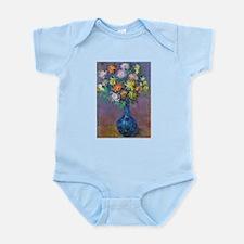 Vase of Chrysanthemums - Claude Monet Body Suit