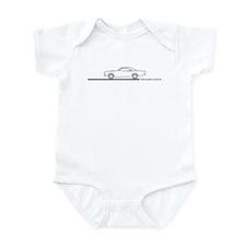1968-69 Roadrunner Grey Car Infant Bodysuit