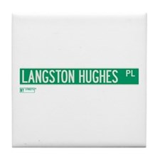 Langston Hughes Place in NY Tile Coaster