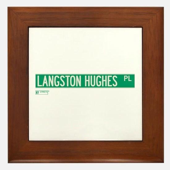 Langston Hughes Place in NY Framed Tile