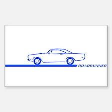 1968-69 Roadrunner Blue Car Rectangle Decal