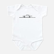 1968-69 Roadrunner Black Car Infant Bodysuit