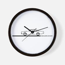1968-69 Roadrunner Black Car Wall Clock