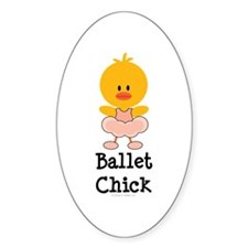 Ballet Chick Oval Decal