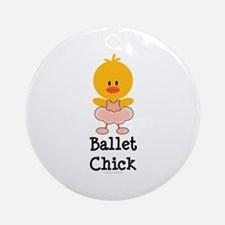 Ballet Chick Ornament (Round)