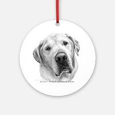 Max, Lab-Bull Terrier Mix Ornament (Round)