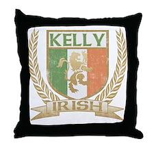 Kelly Irish Crest Throw Pillow