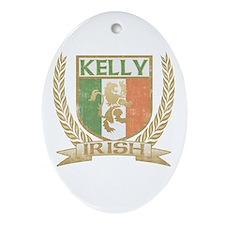 Kelly Irish Crest Oval Ornament
