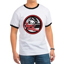 T shirt with radio on the back Gun lovers