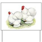 Cochins White Pair Yard Sign