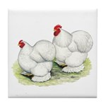 Cochins White Pair Tile Coaster