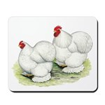 Cochins White Pair Mousepad