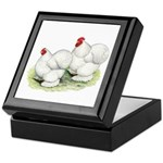 Cochins White Pair Keepsake Box
