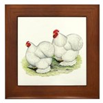 Cochins White Pair Framed Tile