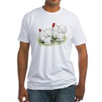 Cochins White Pair Fitted T-Shirt