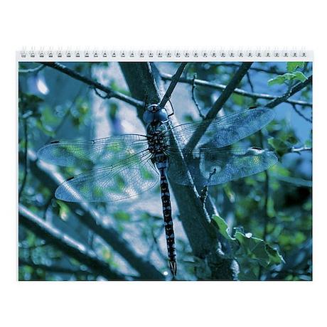 Blue Dragonfly Wall Calendar