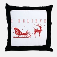 Cute Rudolph the red nose reindeer Throw Pillow