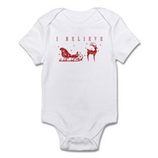 Funny Rudolph red nose reindeer Infant Bodysuit