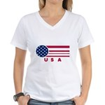 USA Vintage Women's V-Neck T-Shirt