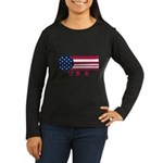 USA Vintage Women's Long Sleeve Dark T-Shirt