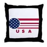 USA Vintage Throw Pillow