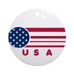 USA Vintage Ornament (Round)
