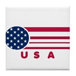 USA Vintage Tile Coaster
