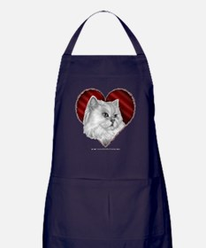 Persian Cat Heart Apron (dark)