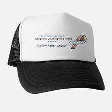 Andrew Robert Snyder CDH Awareness Ribbon Trucker Hat