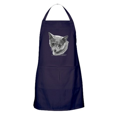 Russian Blue Cat Apron (dark)