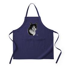 Tuxedo Cat Apron (dark)
