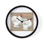 Bantam Cochins Wall Clock