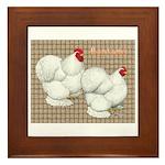 Bantam Cochins Framed Tile