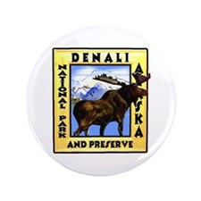 "Denali National Park and Pres 3.5"" Button"