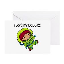#8 I Love My Daddies Greeting Cards (Pk of 10)