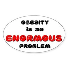 Obesity Oval Decal