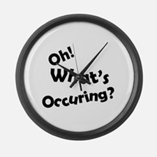 Oh! What's Occuring? Large Wall Clock
